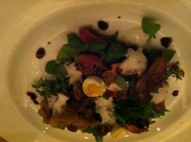 Jerusalem Artichoke dish at Commonwealth SF