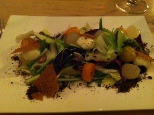 Pumpkin salad at Commonwealth SF