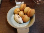 Duck liver mousse with almond biscuits at State Bird Provisions SF